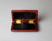 Wooden Oboe Reed Case for 3 reeds - Red